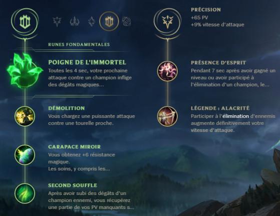 Runes pour Trundle Top - League of Legends