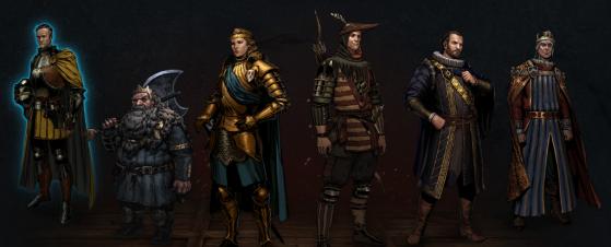 Les six personnages jouables dans Thronebreaker - Gwent