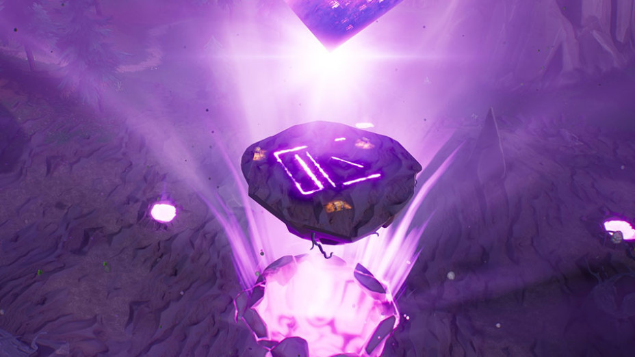 Fortnite L 238 Le Flottante Et Le Cube Extraient Les Runes