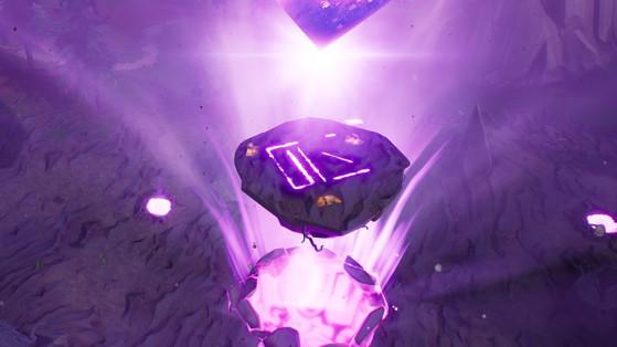 Fortnite : l'île flottante et le cube extraient les runes