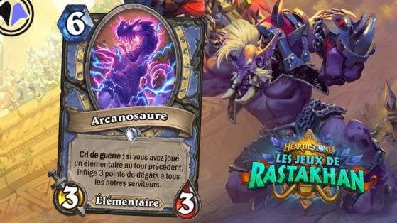 Hearthstone Jeux de Rastakhan : carte exclusive Millenium, Arcanosaure