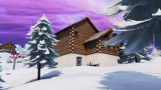 Fortnite : chercher entre trois chalets de ski, défi