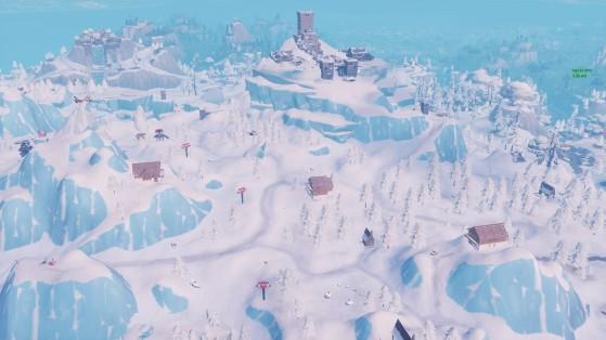 La zone des trois chalets - Fortnite : Battle royale