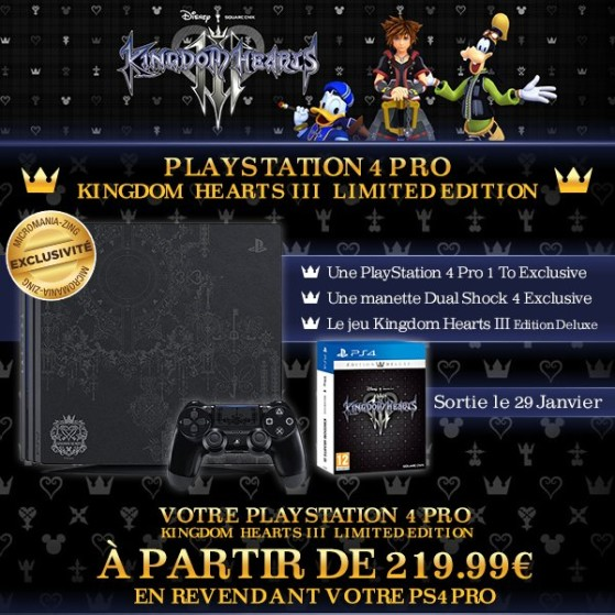 Pack PS4 Pro & Kingdom Hearts 3 Deluxe Edition - Kingdom Hearts 3