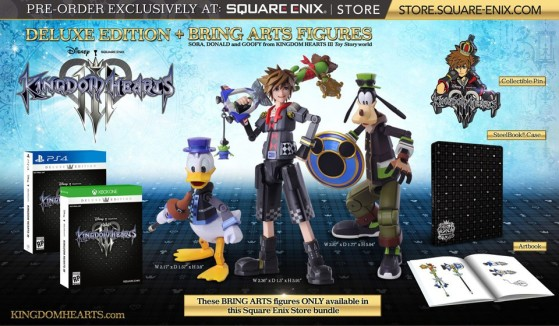 Kingdom Hearts 3 Deluxe Edition + Bring Arts Figure - Kingdom Hearts 3