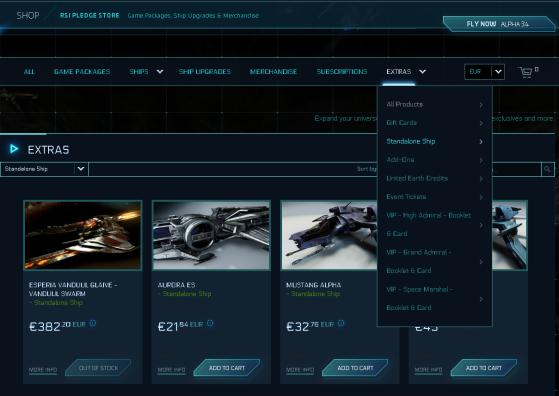 L'accès aux vaisseaux seuls - Star Citizen