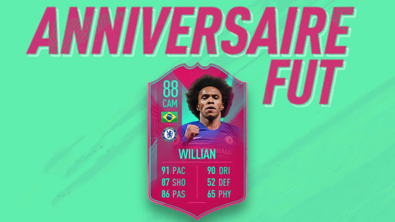 FIFA 19 : DCE Willian Anniversaire, FUT Birthday