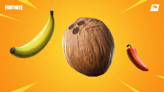 Fortnite : banane, piment, noix de coco, nouveaux consommables