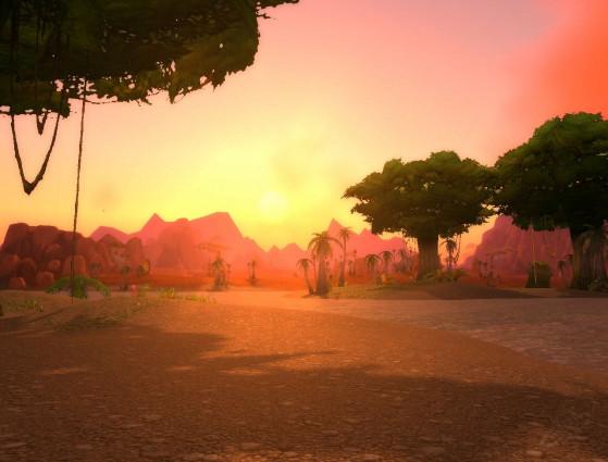 Non, je ne vais pas vous refaire le coup des couchers de soleil magnifiques, mais bon, franchement, c'est quand même mignon. - World of Warcraft