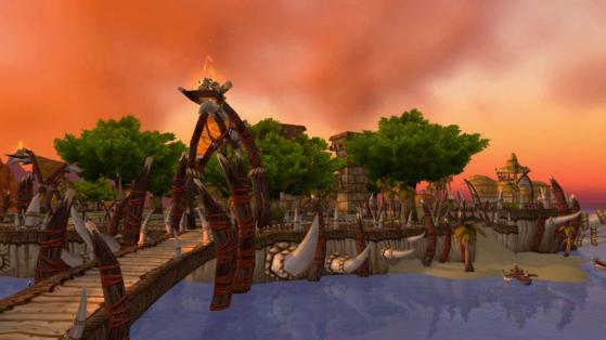 Ah oui, juste un truc sur les Îles de l'Echo. Ces défenses là, ces défenses de 4,5 m de long, elles viennent d'où ? Parce qu'il n'y a aucun animal assez grand dans le coin pour les porter ! - World of Warcraft