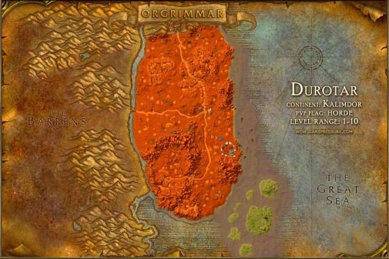 C'est sûr qu'entre Azshara au nord et l'invasion humaine au sud, on n'est pas dans le cocon douillet de la Forêt d'Elwynn. - World of Warcraft