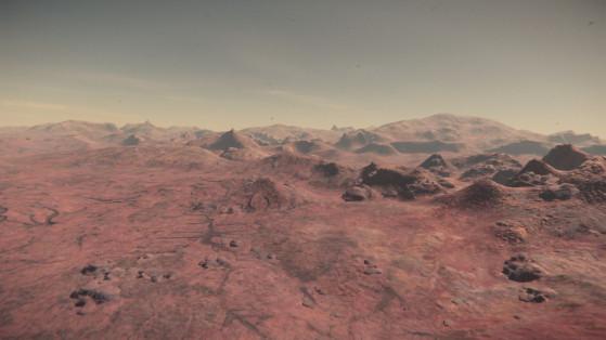 Les désert couvrent la majeure partie de la surface, on y trouve une flore primaire - Star Citizen