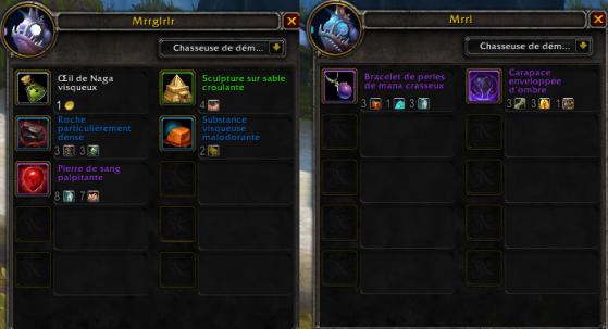 Marchandise des vendeurs murlocs avec la Cape de lève-tempête azsh'ari - World of Warcraft