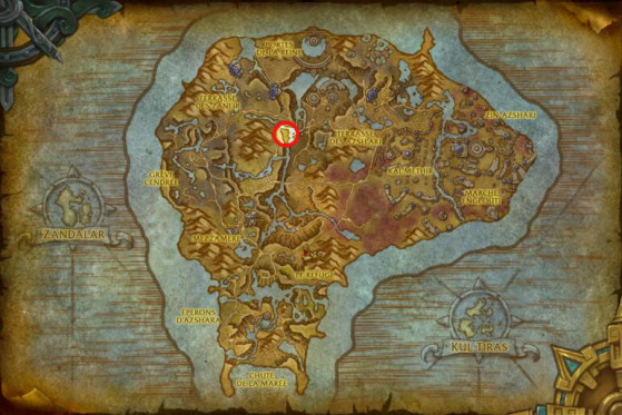 Emplacement de la caverne de Murloco - World of Warcraft