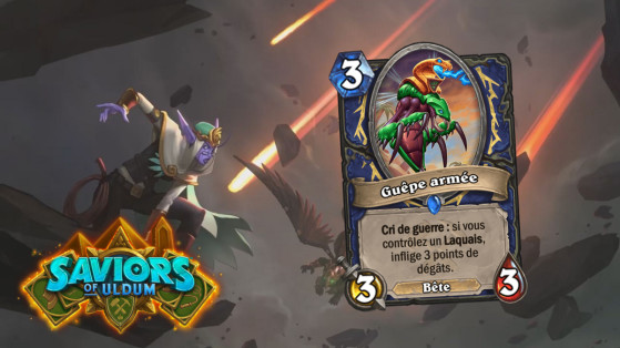 Hearthstone Aventuriers d'Uldum : Guêpe armée (Weaponized Wasp)