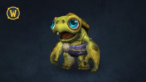 La mascotte Tortois le bébé Tortollan pour WoW - World of Warcraft