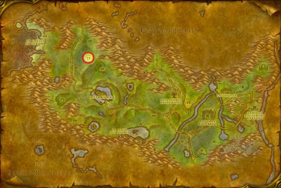Localisation de l'Excavateur de la Rive noire - WoW : Classic