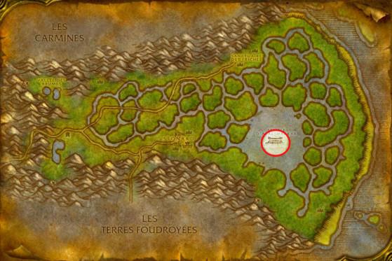 Localisation du Temple d'Atal'Hakkar - WoW : Classic