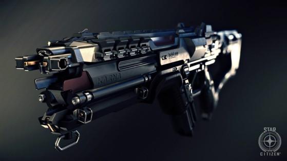 Star Citizen : Armes FPS : Fusil à plasma Karna