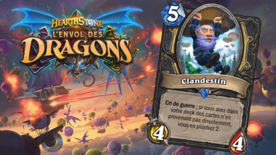 Hearthstone Envol des Dragons : nouveau serviteur rare Voleur Clandestin