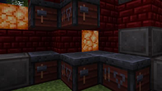 Minecraft : La table du forgeron, smithing table, pour améliorer ses outils en diamant !