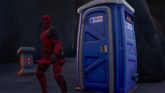 Fortnite : Entrer dans une cabine téléphonique ou des toilettes mobiles, défi Deadpool