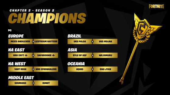 Les champions PC - Fortnite : Battle royale