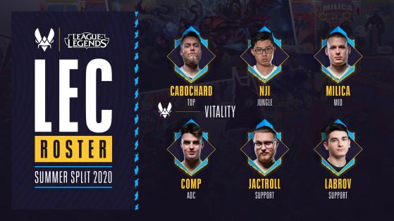 LoL - Mercato LEC : Vitality présente ses équipes pour le Summer Split 2020