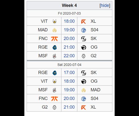 Le programme de G2 pour la semaine 4 de la LEC - League of Legends
