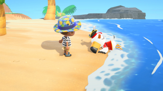 Animal Crossing New Horizons : Gulliver le Pirate et les Meubles Pirates