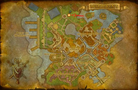 Localisation de Céleste Pervenche - World of Warcraft