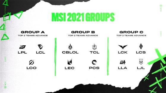 LoL : les équipes du MSI 2021 et leur roster