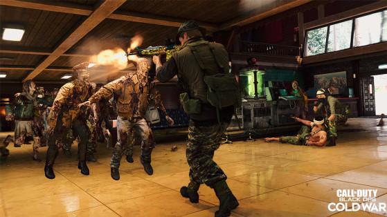 Black Ops Cold War : avoir le Ronald Raygun en zombie sur Contagion