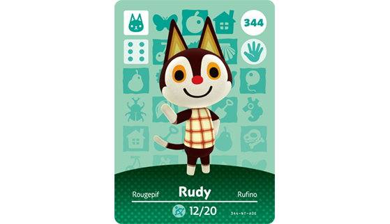 Carte Amiibo de Rougepif - Animal Crossing New Horizons
