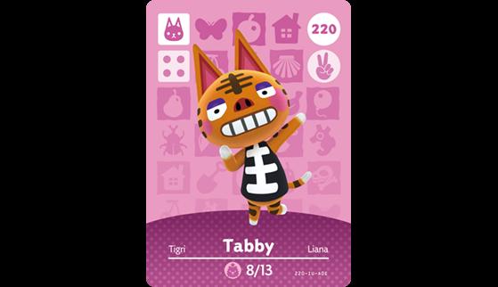 Carte Amiibo de Tigri - Animal Crossing New Horizons