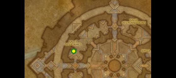 Emplacement de l'Expert Au'vesk, maître des joaillers à Oribos - World of Warcraft