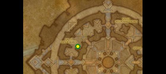 Emplacement de l'Alambiqueur Au'pyr, maître des alchimistes à Oribos - World of Warcraft