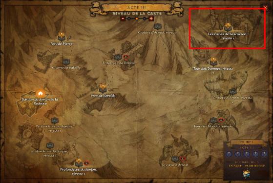 Il vous faudra être en mode aventure et utiliser le téléporteur pour vous rendre dans la zone. - Diablo 3