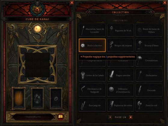 Le livre de collection est très bien fait et clair, il indique bien quels objets sont disponibles, ceux en votre possession et quels sont les pouvoirs obtenus. - Diablo 3