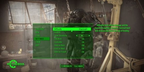 Fallout 4 : Mod équilibrage de difficulté
