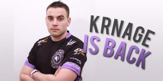 Krnage reprend sa carrière de joueur pro