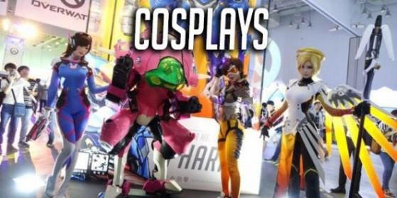 D.Va, Ange, Tracer et faucheur en cosplay
