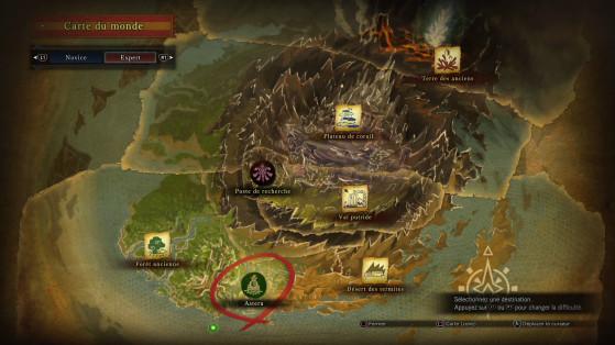 Carte complète du jeu à sa sortie - Monster Hunter World