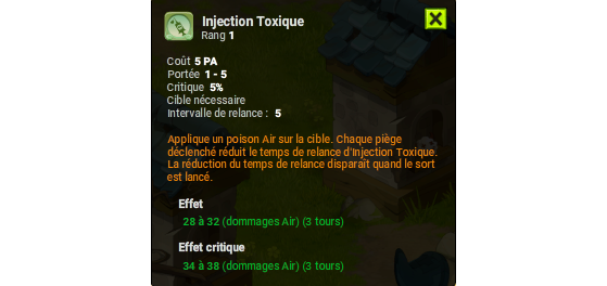 Injection Toxique - Dofus