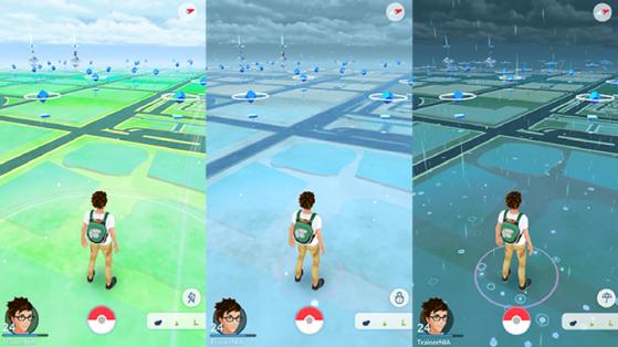 Météo dans Pokémon GO