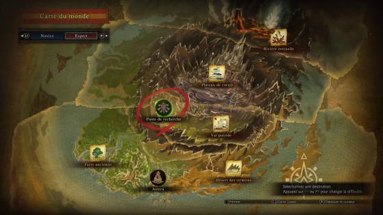Débloquer de nouvelles zones et faire des expéditions vous fera progresser bien plus rapidement que de vous obstiner à farmer des monstres de bas niveau - Monster Hunter World
