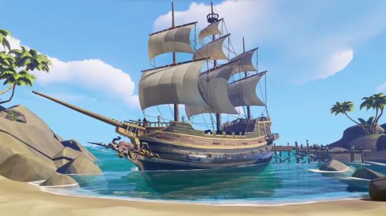 Sea of Thieves : Bateau, navigation