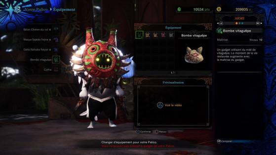 Le Palico et son équipement de haut niveau - Monster Hunter World
