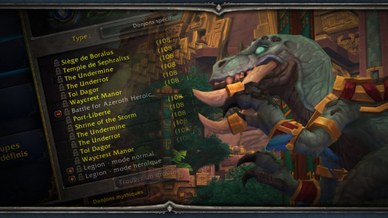 WoW : Battle for Azeroth : interface