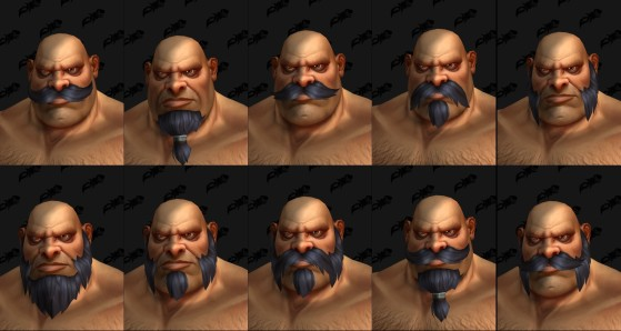 Les différentes barbes disponibles - World of Warcraft